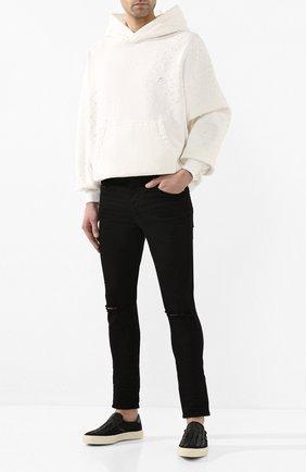 Мужские текстильные слипоны AMIRI черного цвета, арт. Y0F23271CL | Фото 2