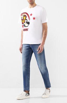 Мужские кожаные кеды SANTONI белого цвета, арт. MBCN21306BARXBMII60 | Фото 2