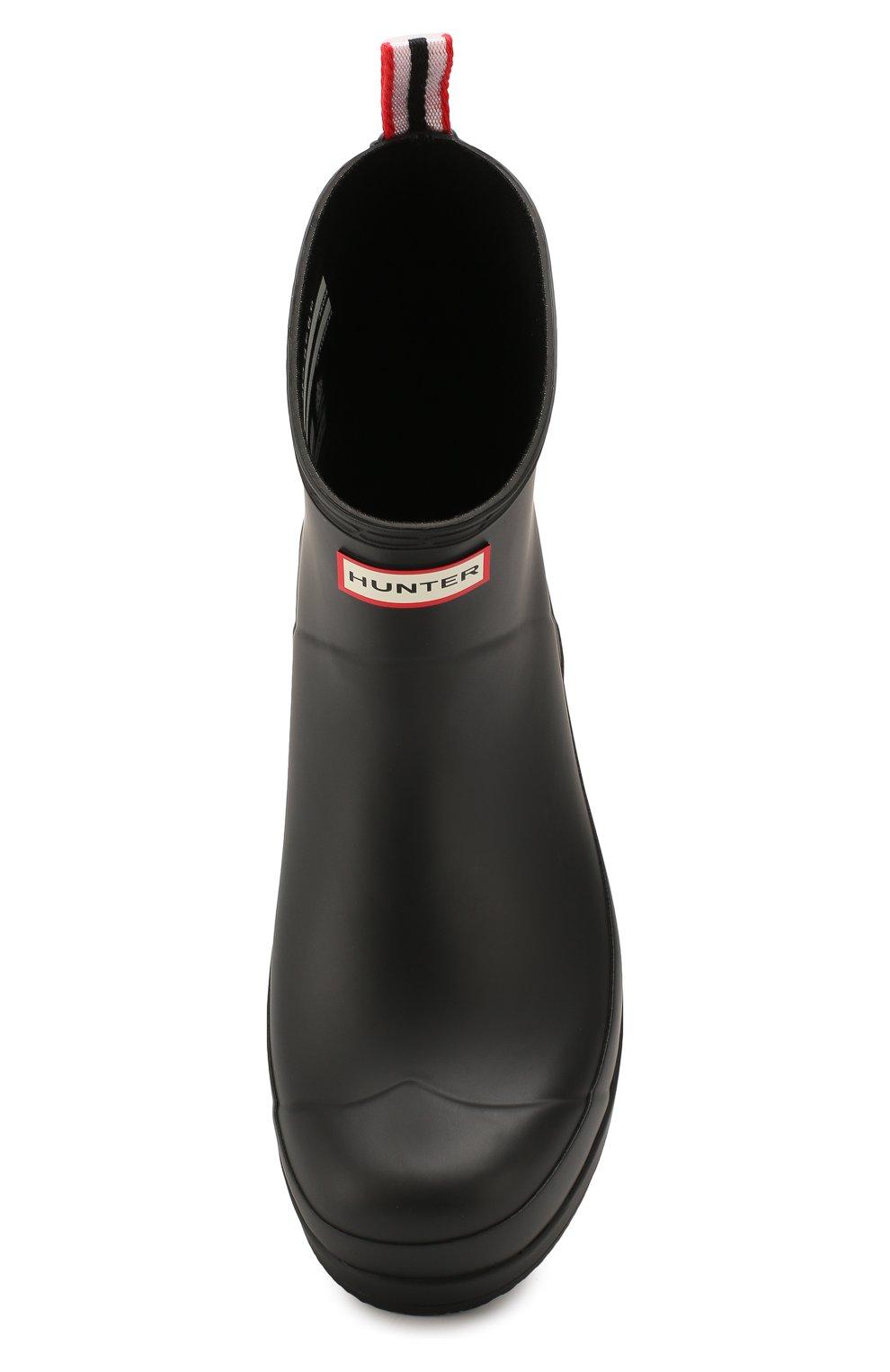 Мужские резиновые сапоги HUNTER черного цвета, арт. MFS9088RMA | Фото 5