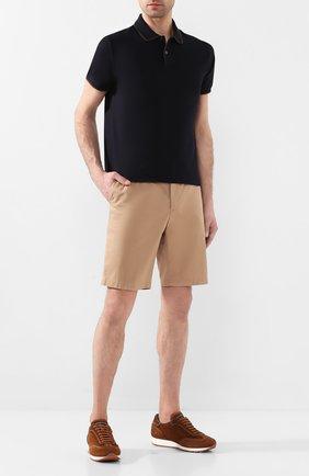 Мужские замшевые кроссовки BRIONI светло-коричневого цвета, арт. QHH80L/P9709 | Фото 2