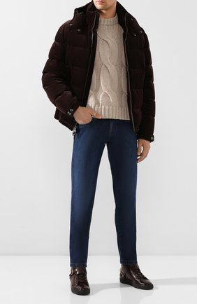 Мужские кожаные кеды RALPH LAUREN темно-коричневого цвета, арт. 815775059 | Фото 2