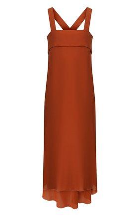 Женское шелковое платье ISABEL BENENATO оранжевого цвета, арт. DW86S20 | Фото 1