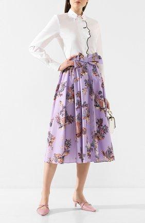 Женская хлопковая юбка VIVETTA сиреневого цвета, арт. 20E V2M0/C101/0133 | Фото 2