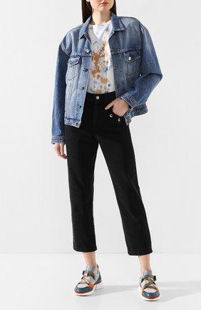 Женская джинсовая куртка TWO WOMEN IN THE WORLD голубого цвета, арт. LENA/YNG4T | Фото 2