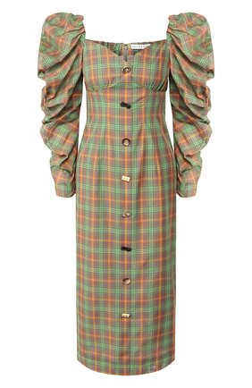 Женское платье-миди REJINA PYO зеленого цвета, арт. F263/JAPANESE V0ILE | Фото 1