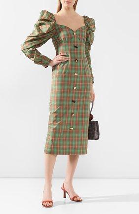 Женское платье-миди REJINA PYO зеленого цвета, арт. F263/JAPANESE V0ILE | Фото 2
