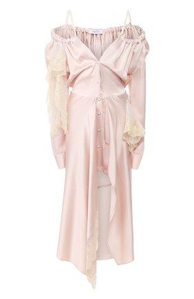 Женское платье-миди ACT N1 розового цвета, арт. RD2003 | Фото 1