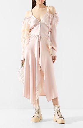 Женское платье-миди ACT N1 розового цвета, арт. RD2003 | Фото 2