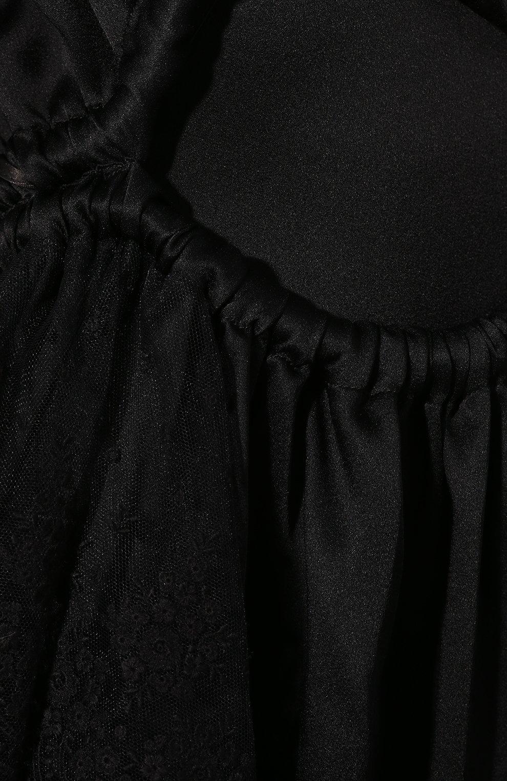 Женское платье-миди ACT N1 черного цвета, арт. RD2004 | Фото 5 (Рукава: Длинные; Случай: Повседневный; Материал внешний: Синтетический материал; Длина Ж (юбки, платья, шорты): Миди; Статус проверки: Проверена категория)