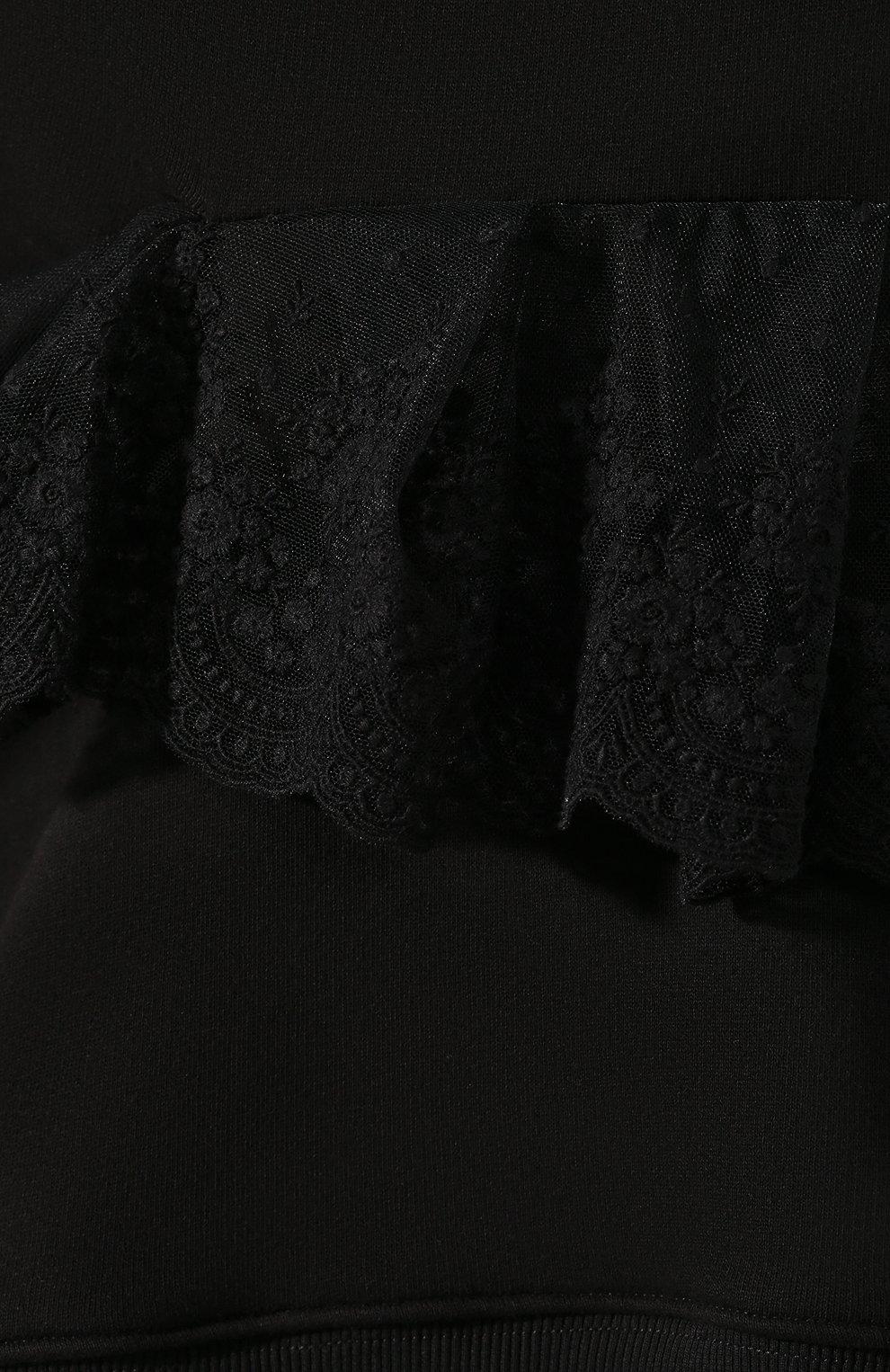 Женский хлопковое худи ACT N1 черного цвета, арт. RF2007   Фото 5 (Рукава: Длинные; Длина (для топов): Стандартные; Материал внешний: Хлопок; Женское Кросс-КТ: Худи-одежда; Стили: Минимализм, Кэжуэл; Статус проверки: Проверена категория)