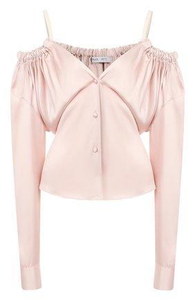 Женская блузка ACT N1 розового цвета, арт. RT2014   Фото 1 (Рукава: Длинные; Материал внешний: Синтетический материал; Принт: Без принта; Женское Кросс-КТ: Блуза-одежда; Длина (для топов): Стандартные)