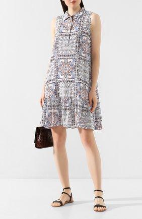 Женское платье с принтом PIETRO BRUNELLI разноцветного цвета, арт. AM0162/VI0058   Фото 2