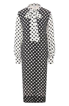 Женское платье в горох ESCADA SPORT черно-белого цвета, арт. 5032453 | Фото 1
