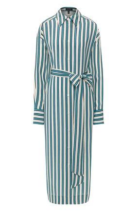 Женское шелковое платье ESCADA бирюзового цвета, арт. 5033129 | Фото 1
