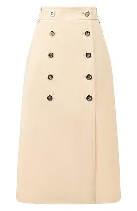 Женская хлопковая юбка ESCADA кремвого цвета, арт. 5033793 | Фото 1