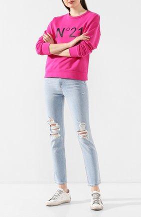 Женские джинсы PAIGE голубого цвета, арт. 5684B61-7484 | Фото 2
