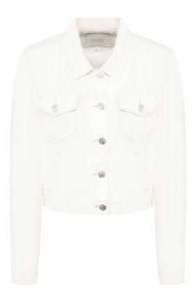 Женская джинсовая куртка PAIGE белого цвета, арт. 5566B32-7421 | Фото 1