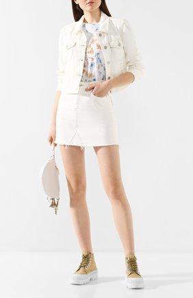 Женская джинсовая куртка PAIGE белого цвета, арт. 5566B32-7421 | Фото 2