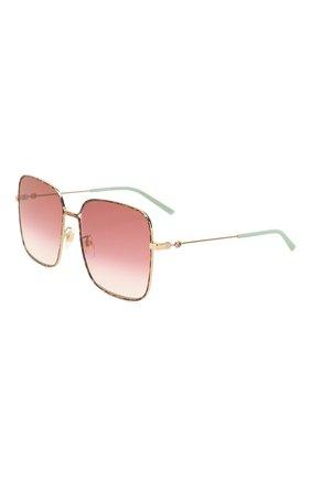 Женские солнцезащитные очки GUCCI разноцветного цвета, арт. GG0443 003 | Фото 1