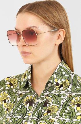 Женские солнцезащитные очки GUCCI разноцветного цвета, арт. GG0443 003 | Фото 2