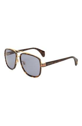 Мужские солнцезащитные очки GUCCI коричневого цвета, арт. GG0448 004   Фото 1