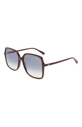 Женские солнцезащитные очки GUCCI бордового цвета, арт. GG0544 003   Фото 1 (Тип очков: С/з; Очки форма: Квадратные; Оптика Гендер: оптика-женское)