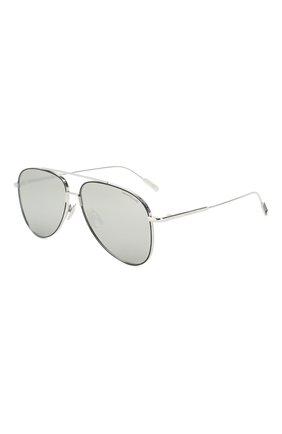 Мужские солнцезащитные очки MONTBLANC серебряного цвета, арт. MB0078 002 | Фото 1