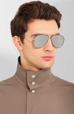 Женские солнцезащитные очки MONTBLANC серебряного цвета, арт. MB0078 002   Фото 3