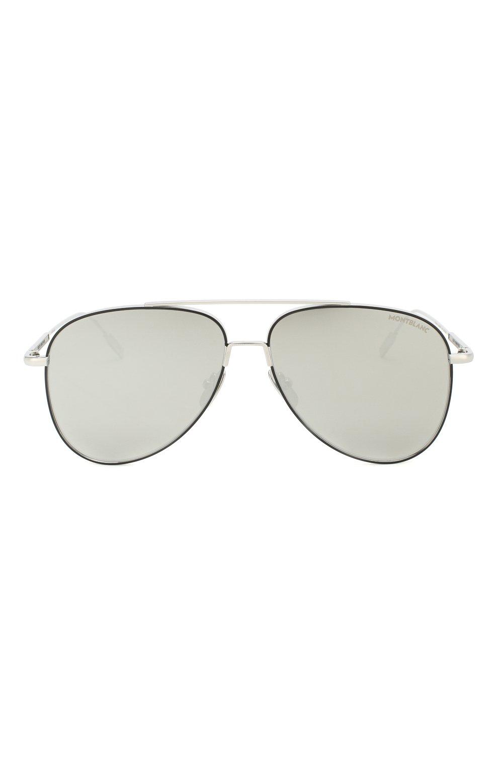Женские солнцезащитные очки MONTBLANC серебряного цвета, арт. MB0078 002   Фото 4