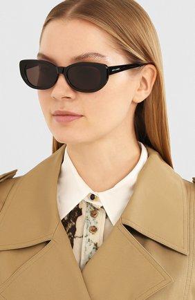 Женские солнцезащитные очки SAINT LAURENT черного цвета, арт. SL 316 001 | Фото 2