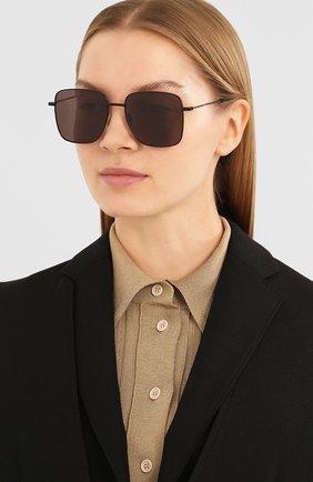 Женские солнцезащитные очки SAINT LAURENT черного цвета, арт. SL 312 001 | Фото 2