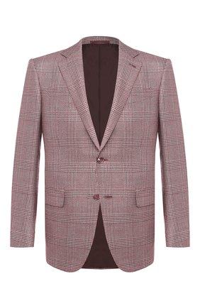 Мужской пиджак из смеси шелка и шерсти ERMENEGILDO ZEGNA бордового цвета, арт. 749068/121220   Фото 1