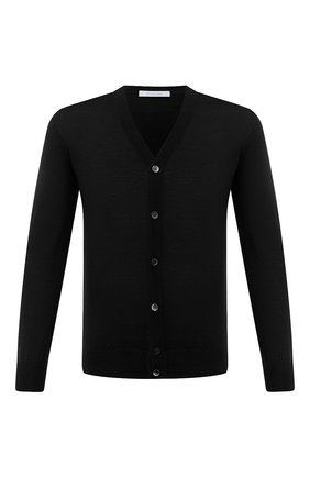 Мужской шерстяной кардиган CRUCIANI черного цвета, арт. CU164B.C05F6V | Фото 1