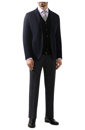 Мужской шерстяной кардиган CRUCIANI черного цвета, арт. CU164B.C05F6V | Фото 2
