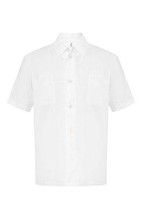 Мужская рубашка из смеси льна и хлопка TRANSIT белого цвета, арт. CFUTRKT293   Фото 1