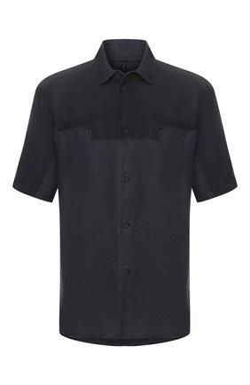 Мужская рубашка из смеси льна и хлопка TRANSIT темно-синего цвета, арт. CFUTRKT293   Фото 1