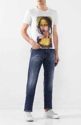 Мужская хлопковая футболка BISIBIGLIO белого цвета, арт. M0NNA CHUPA   Фото 2