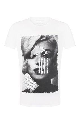 Мужская хлопковая футболка BISIBIGLIO белого цвета, арт. M0NR0E C0CA   Фото 1