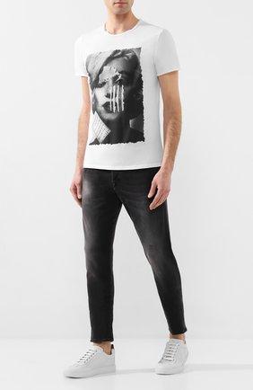 Мужская хлопковая футболка BISIBIGLIO белого цвета, арт. M0NR0E C0CA   Фото 2