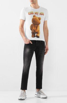 Мужская хлопковая футболка BISIBIGLIO белого цвета, арт. TED MY ASS   Фото 2