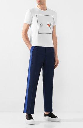 Мужской брюки ICEBERG темно-синего цвета, арт. 20E I1P0/B140/5516   Фото 2