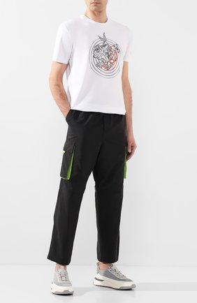 Мужской брюки-карго ICEBERG черного цвета, арт. 20E I1P0/B110/5522   Фото 2