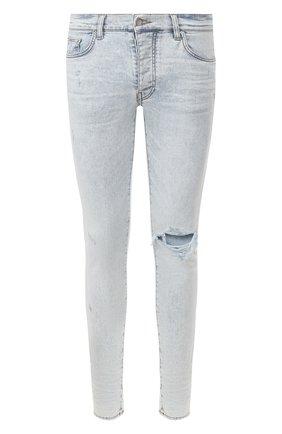 Мужские джинсы AMIRI голубого цвета, арт. Y0M01202SD | Фото 1