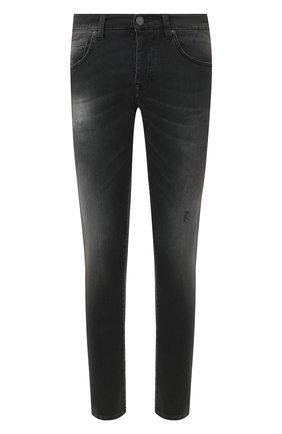 Мужские джинсы 2 MEN JEANS серого цвета, арт. MARC0/Y495R | Фото 1