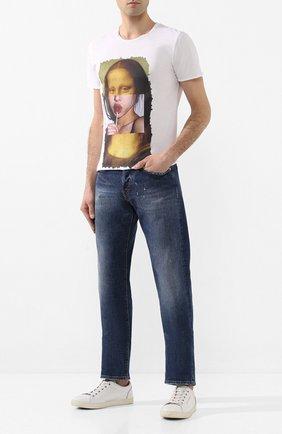 Мужские джинсы 2 MEN JEANS синего цвета, арт. GIULIAN0/Y433M | Фото 2