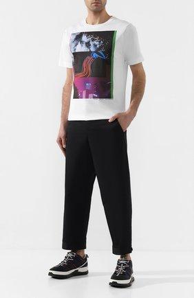 Мужская хлопковая футболка DRIES VAN NOTEN белого цвета, арт. 201-21104-9612 | Фото 2