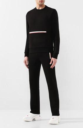 Мужской хлопковый свитшот MONCLER черного цвета, арт. F1-091-8G725-00-V8130   Фото 2
