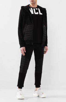 Мужская хлопковая толстовка MONCLER черного цвета, арт. F1-091-8G504-00-V8118 | Фото 2