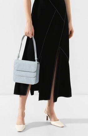 Женская сумка ana REJINA PYO голубого цвета, арт. B21/LEATHER EMB0SS CR0C   Фото 2
