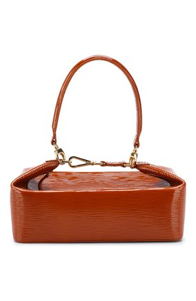 Женская сумка olivia REJINA PYO светло-коричневого цвета, арт. B26/PATENT LEATHER EMB0SS   Фото 1